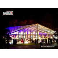 China Aluminum Frame Transparent Roof Luxury Wedding Tents , Temporary Outdoor Event Tents wholesale