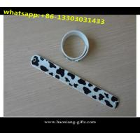 China Wholesale cheap price promotion logo printing custom silicone ruler slap bracelet wholesale