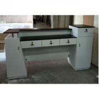 Quality Used Beauty Salon Furniture Front Desk Cheap Checkout Counter Luxury Reception for sale