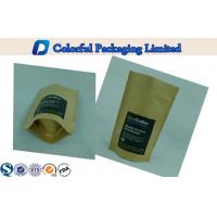 China Kraft Paper Coffee Bag / Coffee Packaging Bags / Resealable Stand Up Pouch on sale