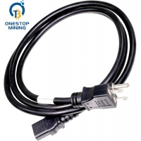 China EU Plug Asic Miner  Power Supply Cords Cables  1.5m 1.8m 2m on sale