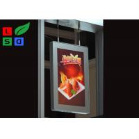 China Aluminum Framed Double Sided LED Light Box Magnetism For Shopping Mall Ceiling Sign wholesale