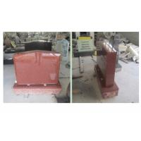 China Red Polished Sketch Granite Memorial Headstones 37.6Mpa Bending Strength on sale