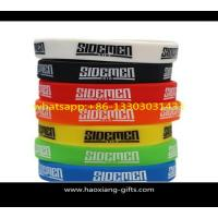 Quality custom high quality promotional silicone wristband/bracelet with your logo for sale
