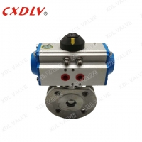 Buy cheap Reduced Bore Pneumatic Actuator Wafer Ball Valve DN200 from wholesalers