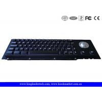 China  Electroplated Black Cherry Key Switch Industrial Metal Keyboard With Trackball  for sale