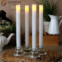 Buy cheap Remote Control Taper Candles , Flameless Taper Candles With Timer from wholesalers