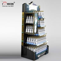 China Wine Shop Metal Display Fixtures Wholesale Metal Store Display Racks wholesale