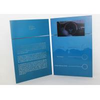 China Electronic magnetic button lcd video mailer for education / graduations , A4 / A5 size wholesale