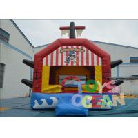 China Red Giant Bouncy Castles For Toddlers / Fun Sports Combo Bounce House wholesale