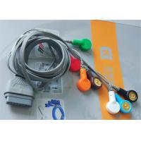 China DMS Holter ECG Cable , 7 Leads IEC Snap Electrode Lead Wires DB Pin Connector wholesale