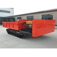 China Steel Track Carrier Crawler Transporter Mine Dump Truck In Red Color wholesale