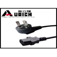 Pure Copper China Power Cord 3 Pin Flat Plug , CCC Power Cord For Computer