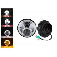 Quality 60W LED Headlights For Jeep Wrangler 7 Inch With Hi - Lo Beam Round for sale