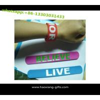 China Wholsale customized logo silicone slap bracelet 2016 new design with cheap price wholesale