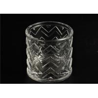 China Wedding Glass Candle Holder Decorations / Glass Candle Sleeve Glassware wholesale