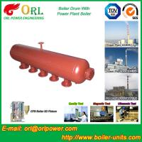 China Water Heat Boiler Mud Drum Anti Wind Single Type , Mud Drum In Boiler wholesale