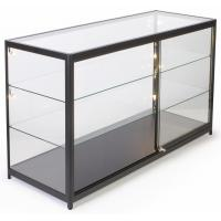 China 72 Inch Mobile Counter Display Showcase , Sliding Door Lighted Glass Display Case wholesale
