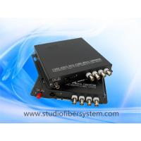 4CH AHD media fiber converter for coaxial and ip camera hybrid application