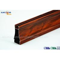 China Structural AA6063 T5 Window Aluminium Frame Wood Grain Surface wholesale