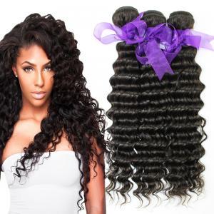 China Peruvian Deep Wave HairBundles No Shedding , Peruvian Hair Deep Body Wave on sale