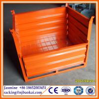 Wholesale Euro Type Stackable Foldable Wire Mesh Pallet Metal Storage Cage from china suppliers