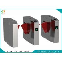 China CE Automatic Turnstiles Flap Barrier Gate Stainless Steel Card Reader Turnstile wholesale