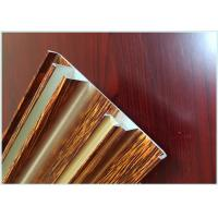 China Smooth Aluminium Door Profiles , Wood Grain Aluminium Window Trim Profiles wholesale