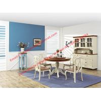Mediterranean Style Dining Room Furniture By Wood Table And Chairs With Buffe