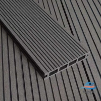 Buy cheap HDPE Hollow WPC Wood Plastic Decking Waterproof For Pontoon from wholesalers