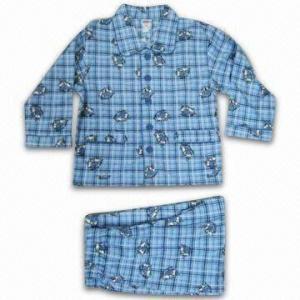 China Children's Sleepwear, Made of 100% Cotton Flannel wholesale