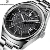China Pagani Design Men Fashion Waterproof Automatic mechanical watch Stainless Steel Band With Date Display Men Watch PD-1637 wholesale