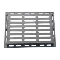 China B4060G-1 Metal grate ductile cast iron gully  grating and frame size 400*600mm drain gully grid for garage road etc. wholesale