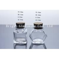 China nice small glass jar with cork for wholesale wholesale