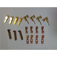 China Good electrical conductivity brass  contact  stamping parts  progressive die on sale