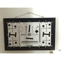 China iso 12233 2000 lines cctv camera test chart resolution test chart on paper and glass (chrome print) 200mm*356mm 16:9 wholesale