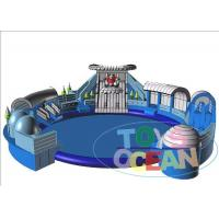 China Blue Inflatable Floating Water Park For Kid / Commercial Inflatable Amusement Park wholesale
