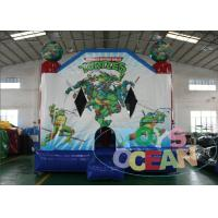 China Teenager Mutant Inflatable Ninja Turtles Bouncer Jumps For Kids Birthday Party 13X13FT wholesale