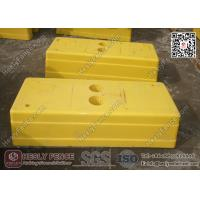 China Yellow Color Temporary Fence Feet Injection Molding | China Temp Fence Feet Supplier wholesale