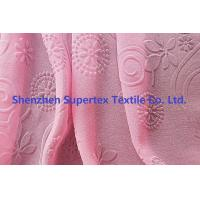 China 75D Polyester Pearl GGT Pink Chiffon Fabric With Embossed Flowers wholesale