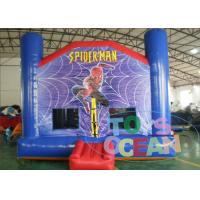 China Amusement Park Amazing Spiderman Inflatable Jumping House With Slide / Repair Kit wholesale
