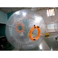 China Recreational TPU Inflatable Grass Zorb , Orange 3m Diameter Soccer Zorb Ball on sale