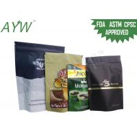 China Resealable Standing Up Individual Coffee Bags Gravure Printing Paper Laminated on sale
