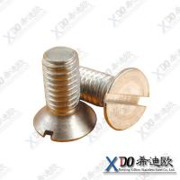 China Monel 400 China hardware supplier stainless steel slotted countersunk head screws wholesale
