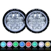 China 60W 5D RGB Jeep Wrangler Headlights with APP Control Multi - Color Bluetooth Remote wholesale