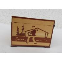 China Tarot Card Packaging Pine Wooden Storage Box With Lacquer Customized Logo wholesale