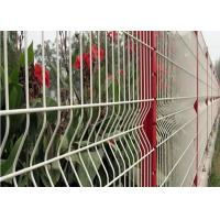 China 3 D Welded Folding Wire Mesh Fence / Bending Garden Security Fencing wholesale