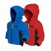 China Children's 3-layer Soft Shell Jacket, Waterproof Zipper and Breathable Fabric wholesale