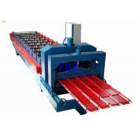 China PPGI PPGL Glazed Steel Roof Tile Roll Forming Machine 70mm Shaft Diameter wholesale
