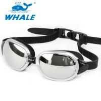 China Sliver Mirror Lens Anti Fog Silicone Swimming Goggles with CE certificate wholesale